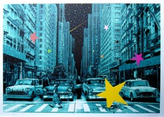 ROAMCOUCH: When you wish upon a star NYC - Screen print, Street art, Graffiti