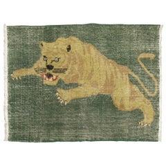 Roaring Tiger Vintage Turkish Rug