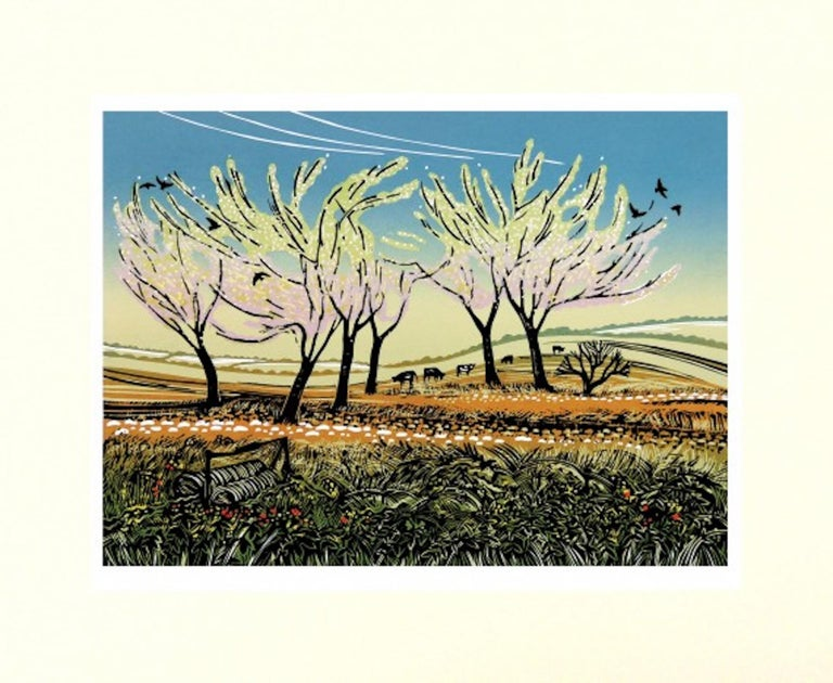 Rob Barnes, Blossom in the Wind, Limited Edition Landscape Print, Affordable Art For Sale 2