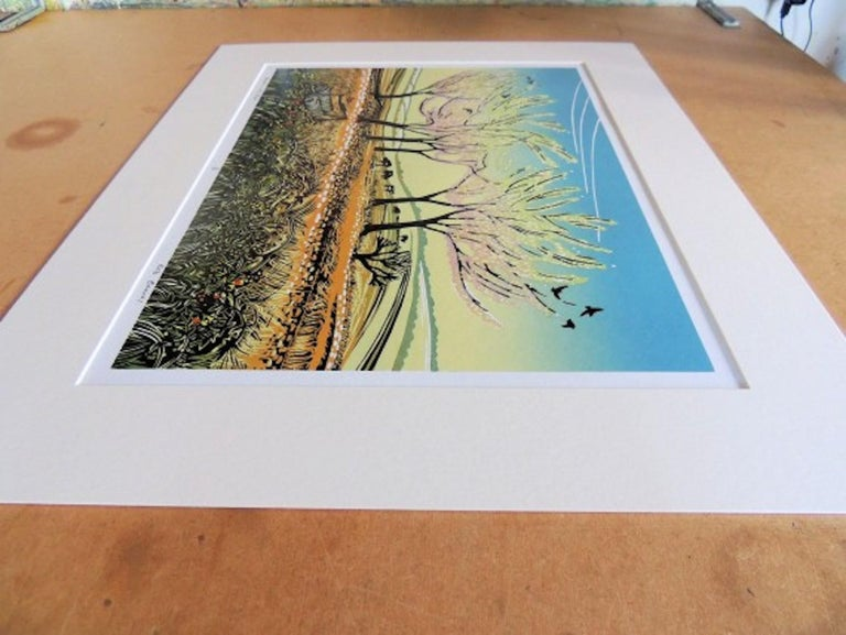 Rob Barnes, Blossom in the Wind, Limited Edition Landscape Print, Affordable Art For Sale 3
