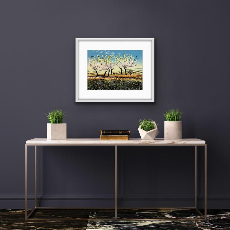 Rob Barnes, Blossom in the Wind, Limited Edition Landscape Print, Affordable Art For Sale 5