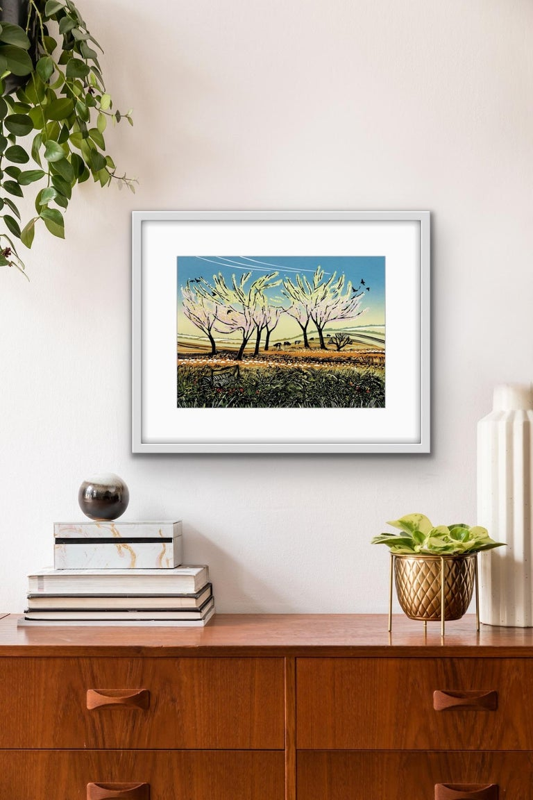 Rob Barnes, Blossom in the Wind, Limited Edition Landscape Print, Affordable Art For Sale 6