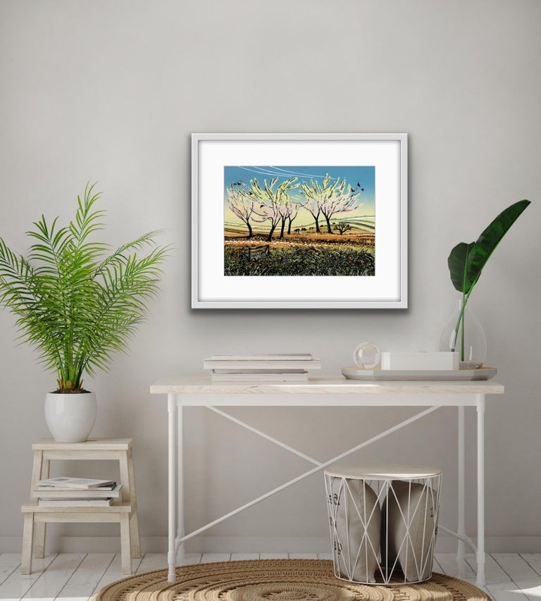 Rob Barnes, Blossom in the Wind, Limited Edition Landscape Print, Affordable Art For Sale 7