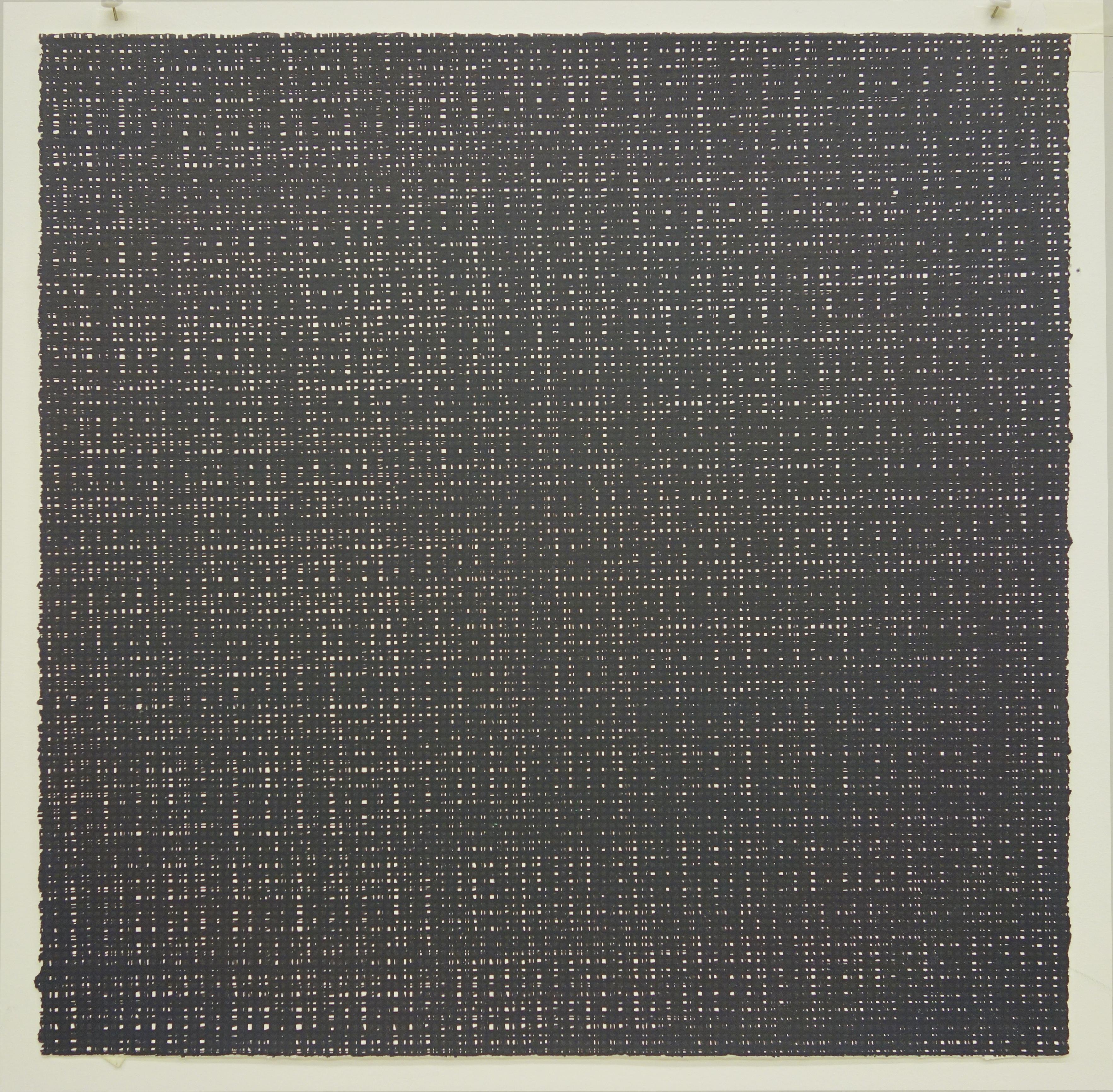 Rob de Oude, Untitled-Wassaic 5, 2016, silkscreen, 18 x 18 inches, Suite of 10