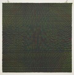 Rob de Oude, Untitled-Wassaic 6, 2016, silkscreen, 18 x 18, Minimalist