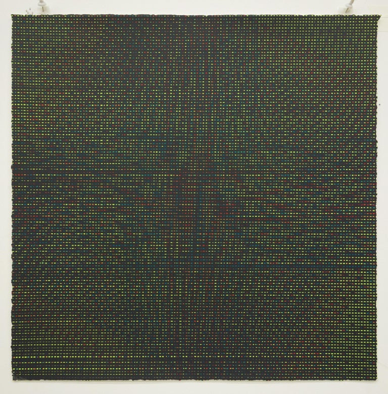 Rob de Oude, Untitled-Wassaic 7, 2016, silkscreen, 18 x 18 inches, Suite of 10 - Abstract Geometric Painting by Rob de Oude