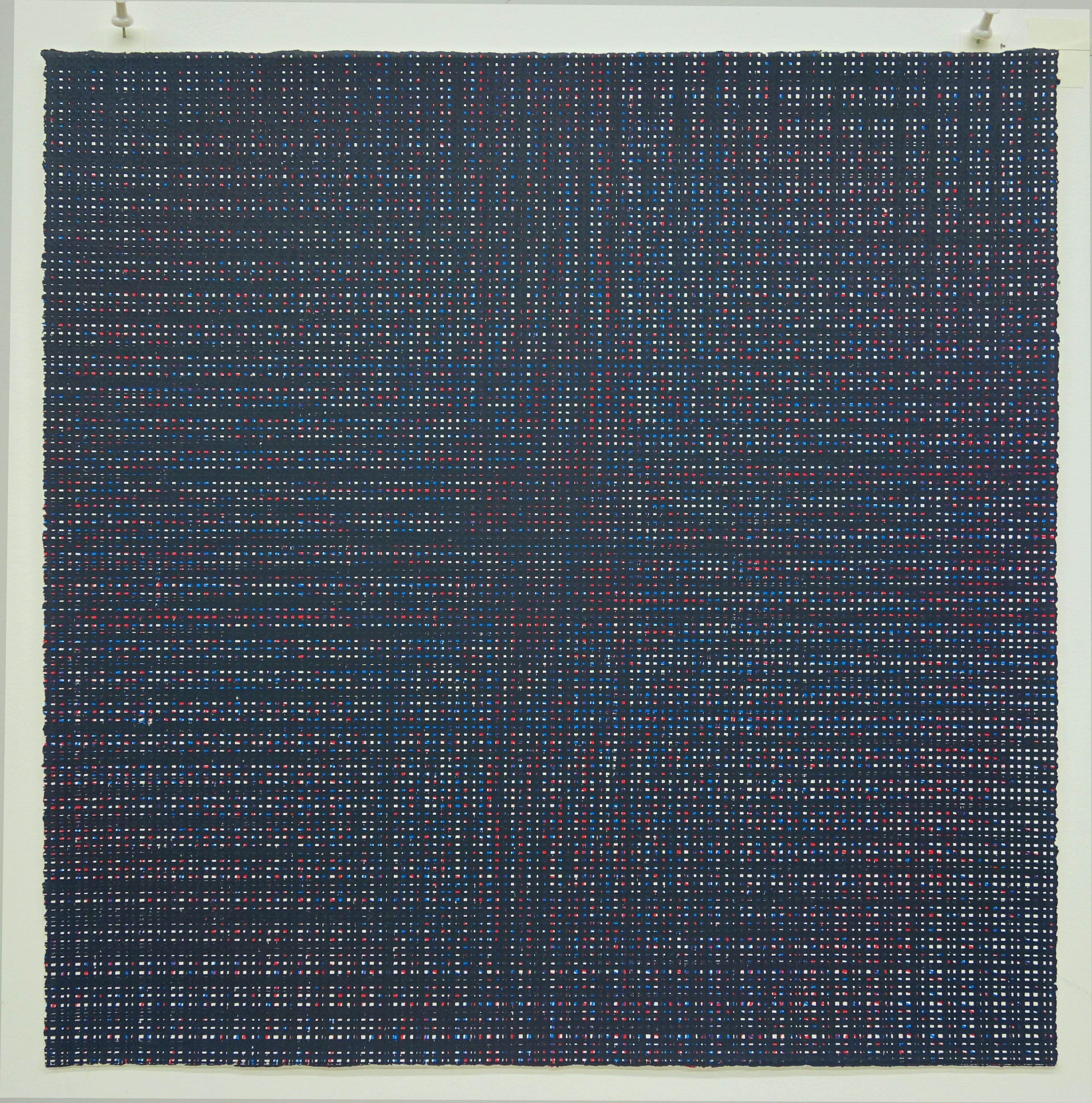 Rob de Oude, Untitled-Wassaic 7, 2016, silkscreen, 18 x 18 inches, Suite of 10
