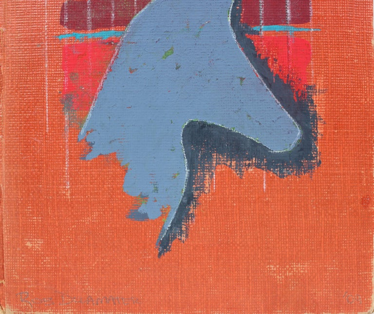 Abstracted Vintage Book Cover in Gouache  - Painting by Rob Delamater
