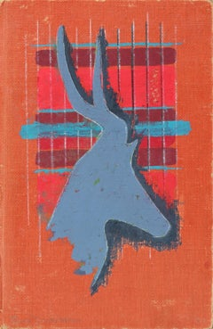 Abstracted Vintage Book Cover in Gouache