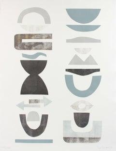 """Frieze V"" 2018 Organic Geometric Shapes Monotype"