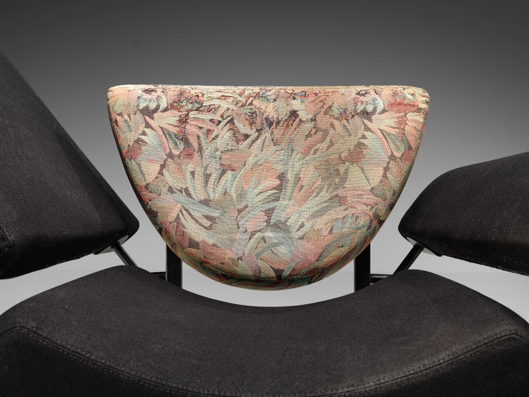 """Post-Modern Rob Eckhardt for Pastoe Lounge Chair """"Groeten Uit Holland"""" in Original Fabric For Sale"""