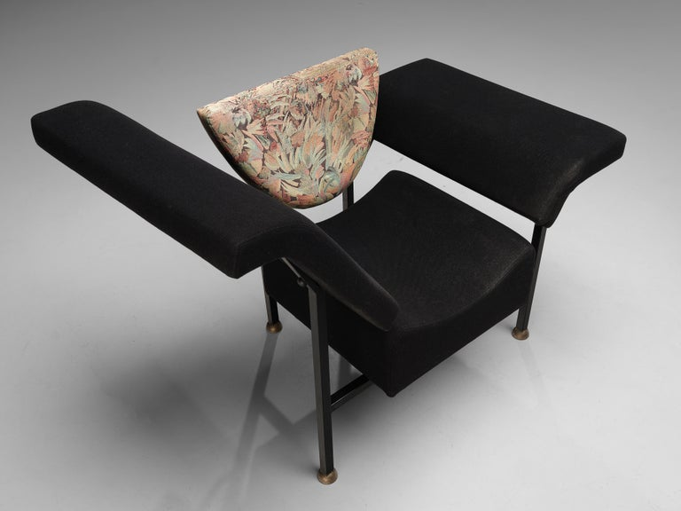 "Rob Eckhardt for Pastoe Lounge Chair ""Groeten Uit Holland"" in Original Fabric In Good Condition For Sale In Waalwijk, NL"