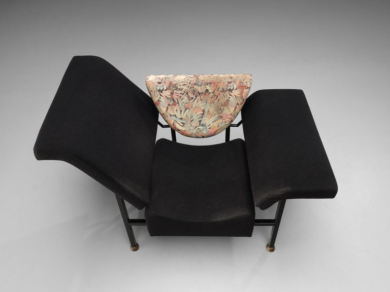 """Rob Eckhardt for Pastoe Lounge Chair """"Groeten Uit Holland"""" in Original Fabric For Sale 1"""
