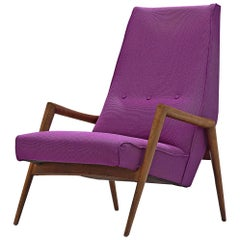 Rob Parry 'Triennale' Armchair in Purple Fabric