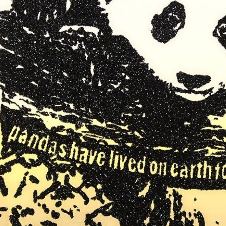 Giant Pandas -- Screen Print, Animals, Text Art by Rob Pruitt For Sale 1