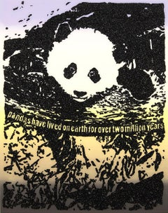 Giant Pandas -- Screen Print, Animals, Text Art by Rob Pruitt