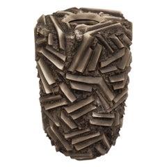 Rob Sieminski Vase, Ceramic, Brown, Double Walled