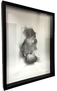 Venus May 2, Finalist at RA Summer Show 2014 smoke on paper contemporary frame