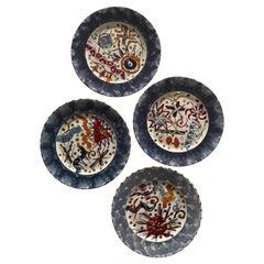 Rob Turner Hand Painted Dessert Side Plates, Set of 4