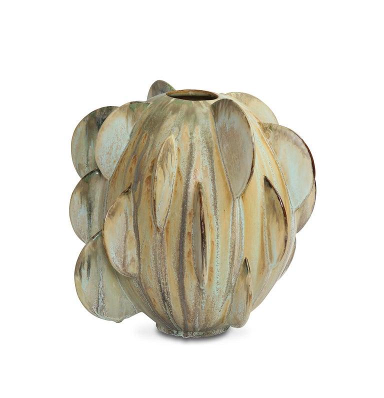 Hand-Crafted Robbie Heidinger Untitled Orb Vase #1