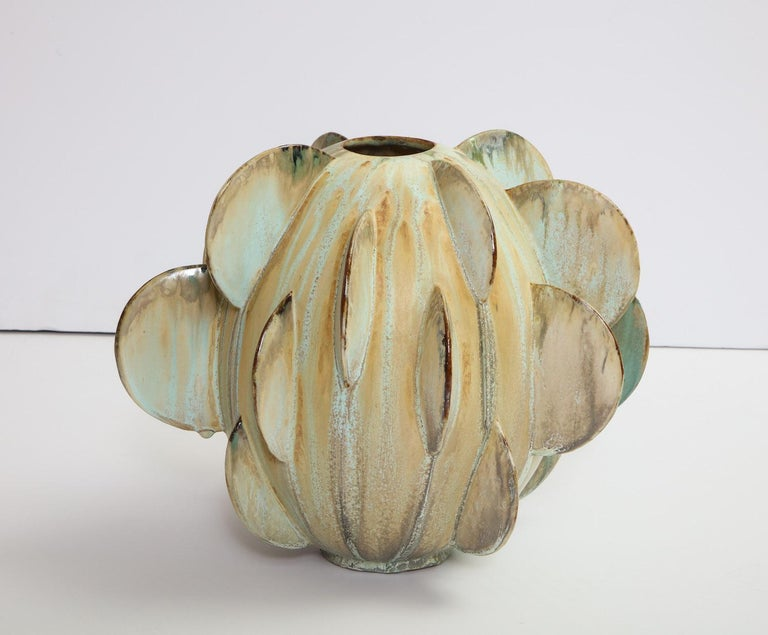 Stoneware Robbie Heidinger Untitled Orb Vase #1