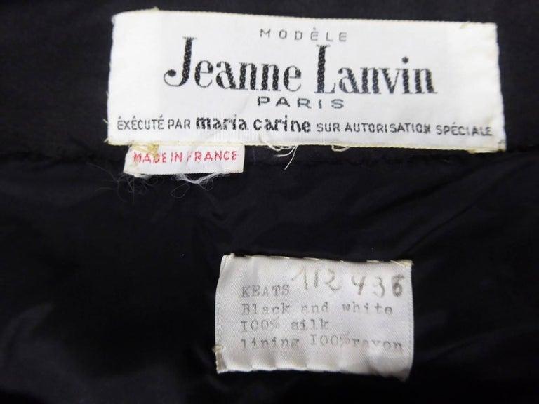 Jeanne Lanvin Haute Couture Dress, 1960 For Sale 5