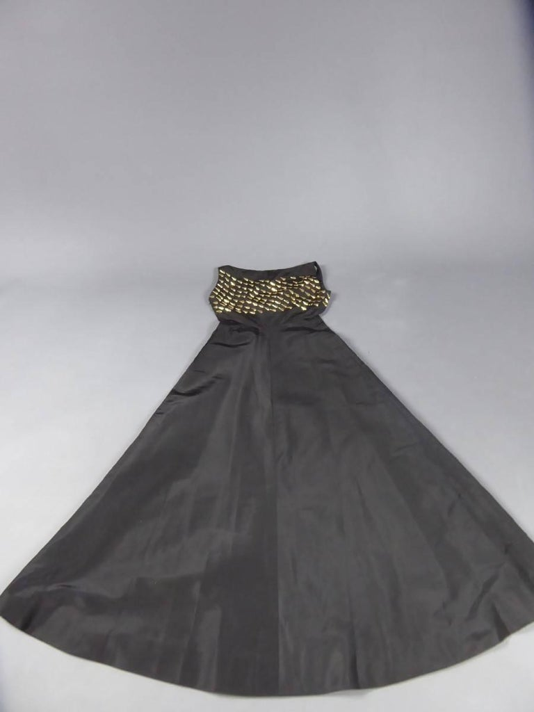 Jeanne Lanvin Haute Couture Dress, 1960 For Sale 8
