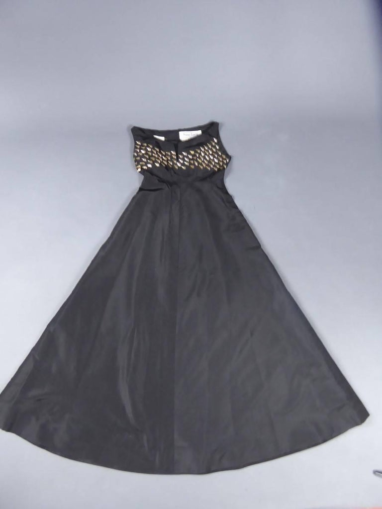 Jeanne Lanvin Haute Couture Dress, 1960 For Sale 10