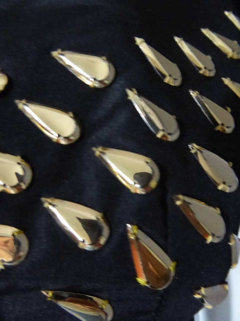 Black Jeanne Lanvin Haute Couture Dress, 1960 For Sale