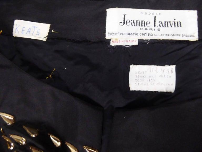 Jeanne Lanvin Haute Couture Dress, 1960 For Sale 4