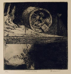 Speedometer, American Modernist Abstract Etching