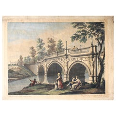 "Robert Adam Architect 1768 ""Perspective View of The Bridge at Lion"" Rare Etching"