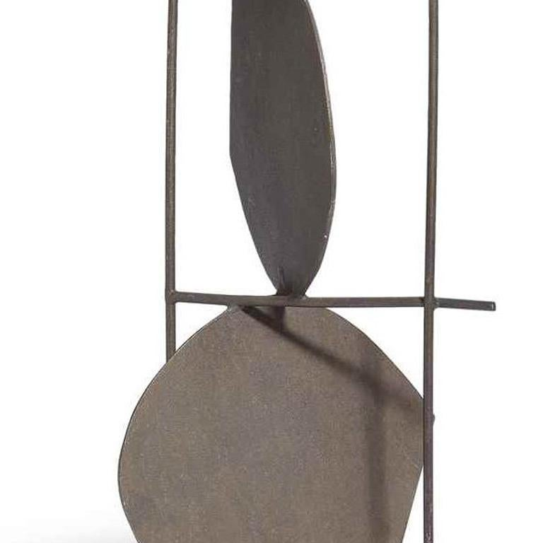 Maquette (Opus 145) - Gray Abstract Sculpture by Robert Adams
