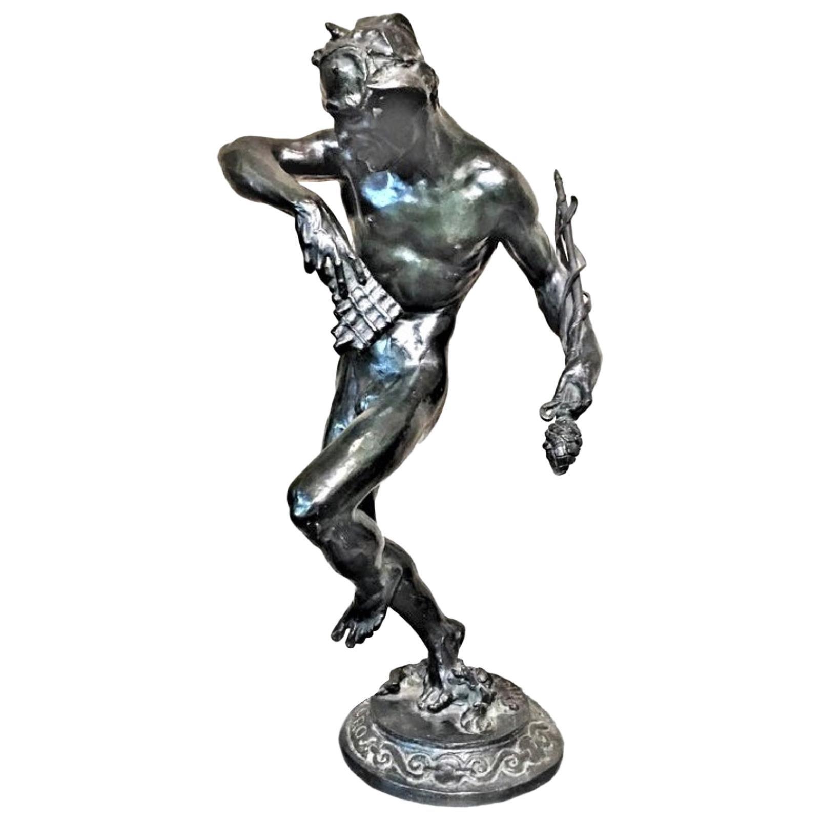 Robert Aitken, A Dance, American Art Deco Patinated Bronze Sculpture circa 1920s