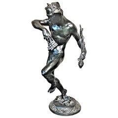 Robert Aitken, A Dance, American Art Deco Patinated Bronze Sculpture circa 1920s