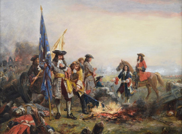 19th Century historical genre oil painting of soldiers surrendering  - Painting by Robert Alexander Hillingford
