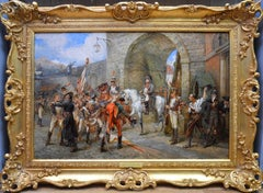 An Incident in the Peninsular War - 19th Century Oil Painting Napoleon in Spain