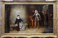 Elizabeth in the Tower - 19th Century Oil Painting Famous Scene Tower of London
