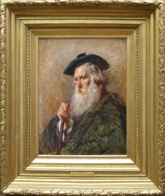 The Highlander - 19th Century Portrait Oil Painting of Scottish Highlander