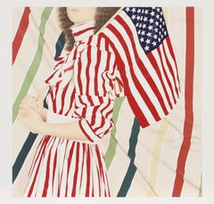 American Girl (Stars and Stripes), Lithograph by Robert Anderson
