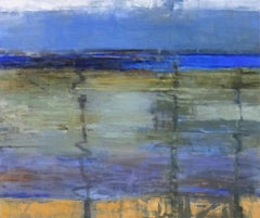 Between Tides, Abstract Expressionist Oil Painting