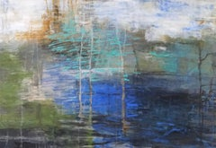 Copse, Abstract Expressionist Acrylic Painting