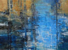 Evening Light, Abstract Expressionist Oil Painting