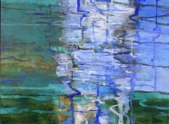 Malachite, Abstract Expressionist Arylic Painting