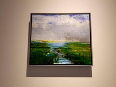 Marshes, Abstract Expressionist Acrylic Painting