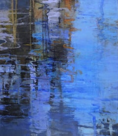 Open Water, Abstract Expressionist Acrylic Painting