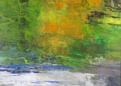 White Water, Abstract Expressionist Acrylic Painting