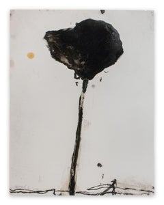 Stem in Black #4 (Abstract painting)