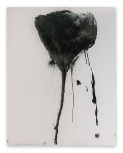 Stem in Black #7 (Abstract painting)