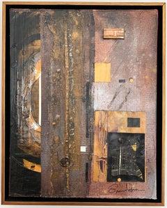 "Robert Branham ""Composition"", mixed media on board"